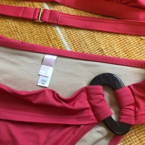 Victoria's Secret Swim - Island Red Bikini Halter Top & Bottom